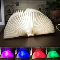 New Arrival RGB Folding Notebook LED Light 5 Colors Creative Gifts 5V USB Rechargeable Book Lamp