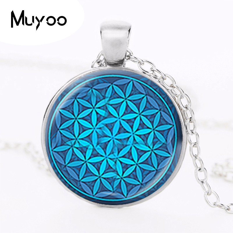 Stainless Steel Good Vibes Sunflower Pendulum Curved Triangle Charm Pendant Necklace