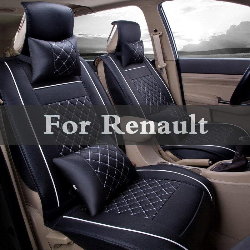 Couro Universal Pu Tampa Interior Única Almofada Do Assento Do Carro Para A Renault Sandero Twizy Vel Satis Vento Símbolo Talismã Twingo