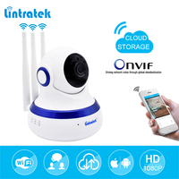 Lintratek Hd 1080P IP Camera WIFI 2 0MP CCTV Video Surveillance P2P Home Security Three Antennas