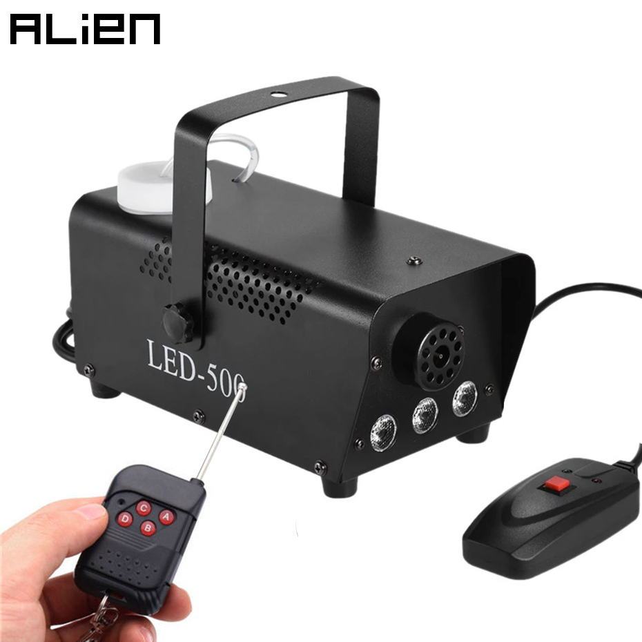 ALIEN 400W Mini Smoke Fog Machine Disco DJ Party Holiday Wedding Bar Christmas Wireless Remote Control Fogger With RGB LED Light-in Stage Lighting Effect from Lights & Lighting