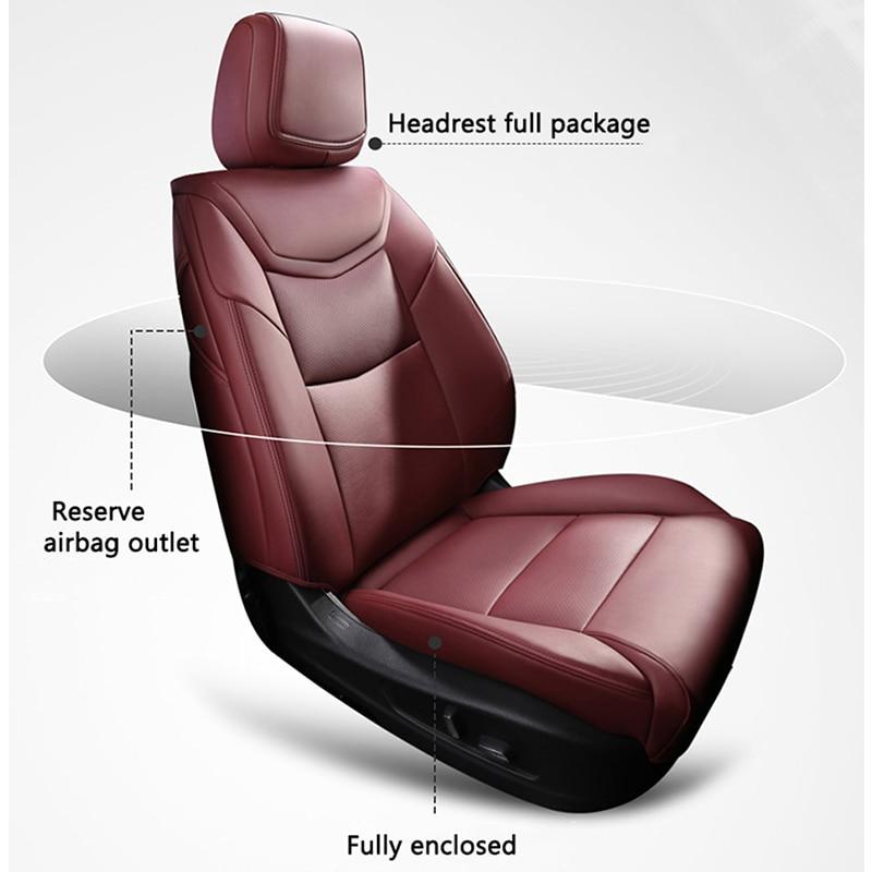 Kokolololee housse de siège de voiture en cuir sur mesure pour FOTON Midi V5 G9 im6 ix5 ix7 SAVANNA pour QOROS 3/5 Automobiles housses de siège auto - 6