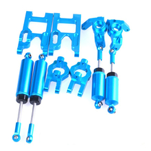 1/12 FY03 WLtoys 12428 RC Cars Upgrade Suspension Arm/Steering Hub Carrier/Shock Absorber/Linkage Pull Rod/Wheel Tires Kit