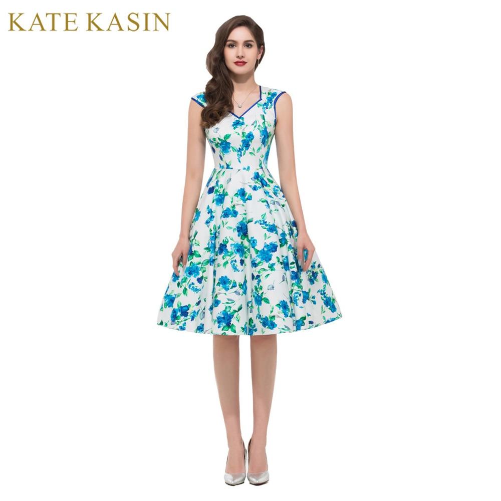Sexy v neck knee length flowers pattern women short for Formal short dresses for weddings