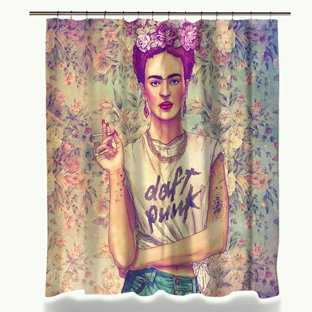 Miracille Frida Kahlo Printed Bath Shower Curtains With Waterproof Polyester Fabric Curtain For The Bathroom 12 Hooks 2size In From