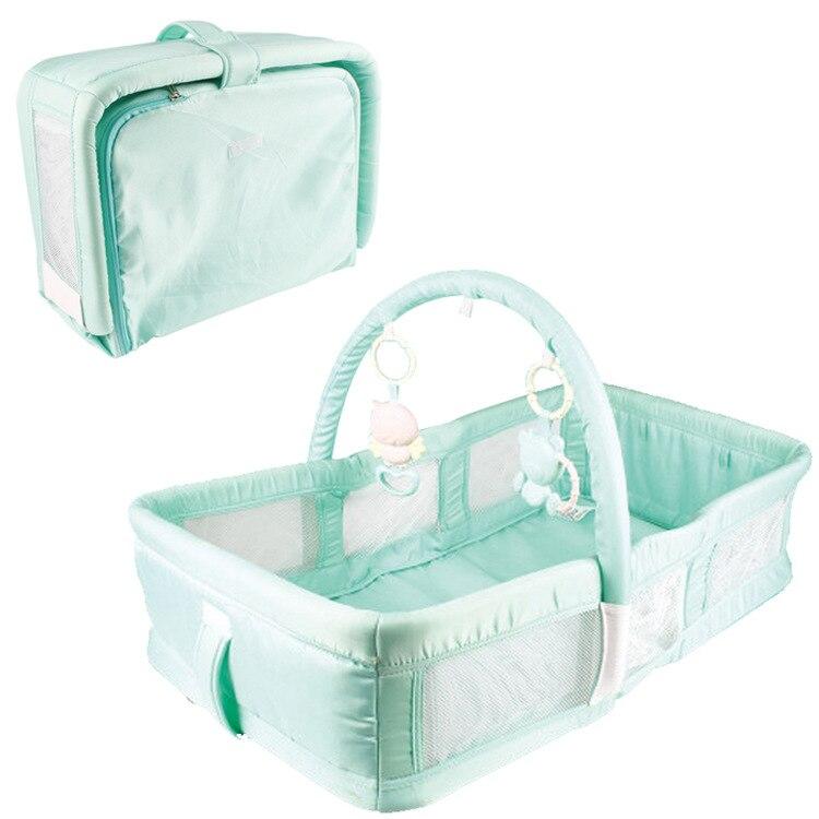 Lit bionique de confort portable pour bébé lit de jouet éducatif nouveau-né lit de voyage pliable pour bébé