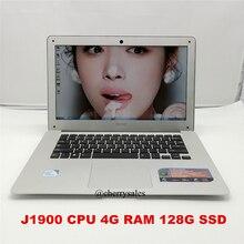 14 Inch 4GB RAM & 128G SSD Laptop Windows7/win8.1 Notebook Computer with In-tel Celeron J1900 Quad Core HDMI WIFI 1.3MP Webcam