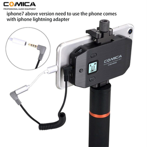Image 5 - Wireless Smartphone Microphone System Comica CVM WS50(H) 6 Channels Handheld Microphone for iPhone Samsung Huawei Mobile Phones