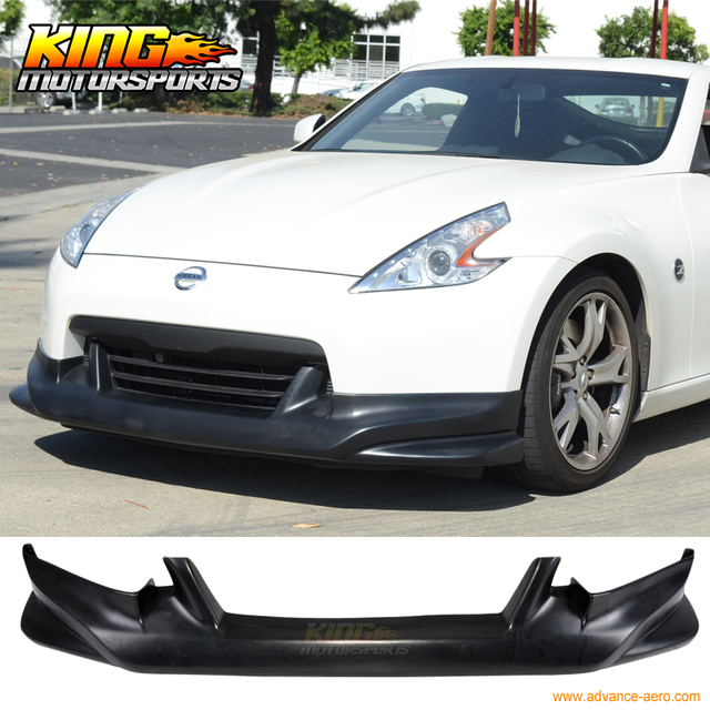 Fit For 09 12 Nissan 370z N Style Poly Urethane Black Front Bumper