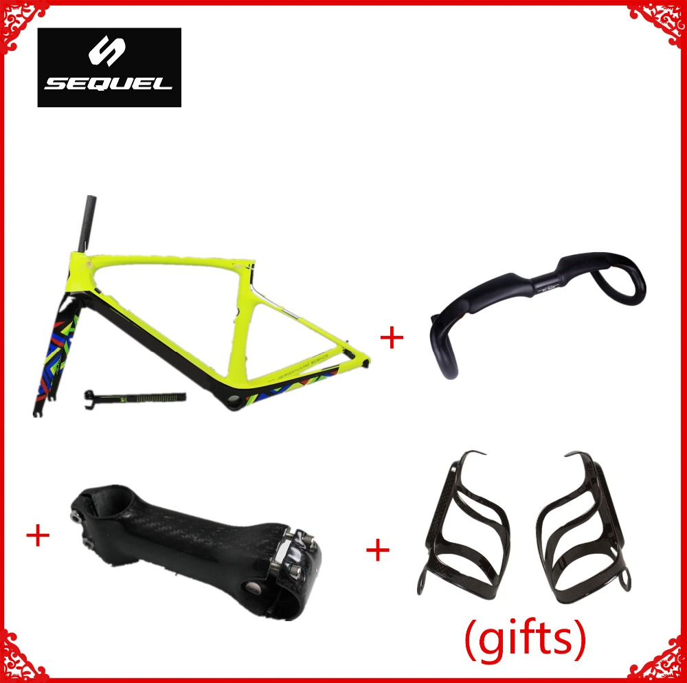 все цены на Buy carbon bike frames can get 2 carbon bottle cages as gifts Toray T1100 PF30/BB30 Di2 frame carbon road custom paintings