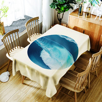 European Polyester Digital Printing Tablecloth Sea Water Pattern Tablecloth Restaurant Picnic Party Home Decoration Table Cloth