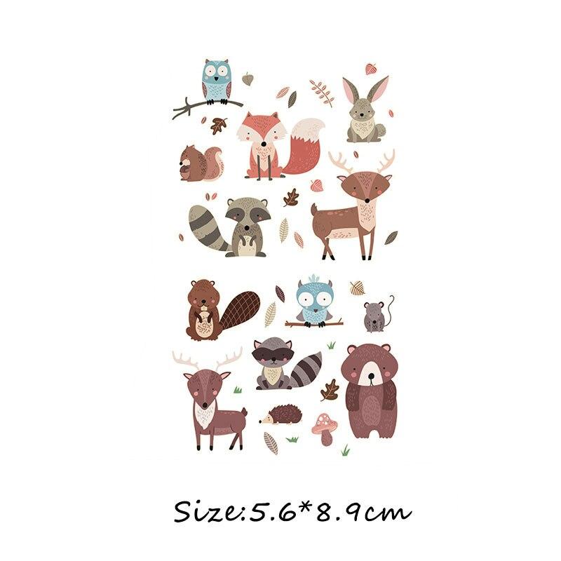 Набор патчей с изображением животных из мультфильмов, милые патчи с изображением единорога, кошки, совы, собаки, цветов для детей, одежда для девочек, футболка, сделай сам, термопресс - Цвет: 265