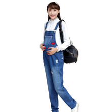 2015 Selling new women's clothes,pregnant women Zipper paste cloth overalls,Korean fashion denim piece pants Maternity Pants XL
