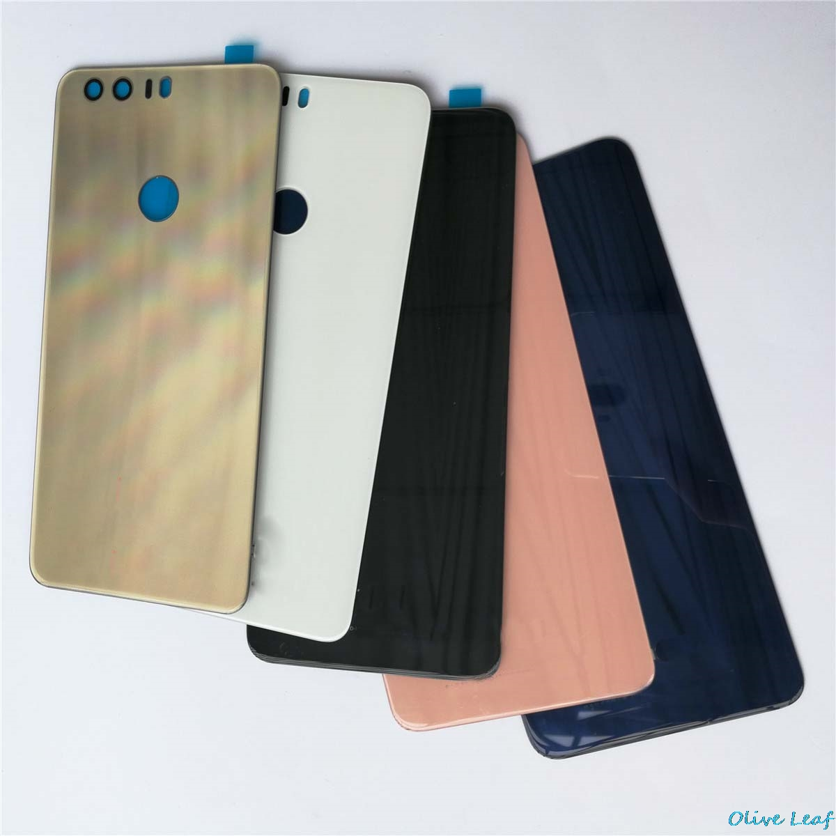 For Huawei Honor 8 Back Glass Door Cover With Adhesive Sticker Parts Replacement Original Rear Battery Cover Housing