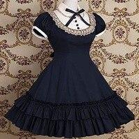 Short Sleeve Knee length Cotton School Lolita Dress
