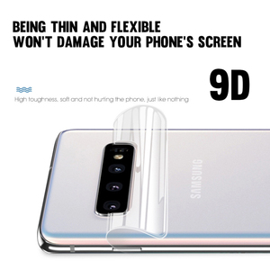 Image 4 - 9D Full Cover For Samsung Galaxy Note20 S10E S20 Plus Ultra Screen Protector Hydrogel Front Film + Back Film + Camera Lens Glass