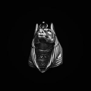Image 2 - EYHIMD エジプト神話死ロットアヌビスステンレス鋼リングエジプトジャッカル神アンダーワールドゲートキーパーバイカーリングロックジュエリー