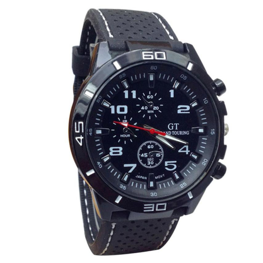 Men's Watch COOL Multi-color Quartz Military Watches Sport Wristwatch Silicone Saat Zegarek Meski Relgio Masculino Reloj Hombre