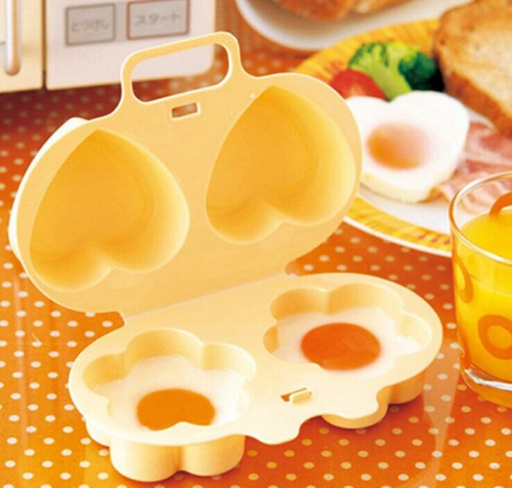 Microwave Egg Cooker Heart Flower Shaped Poacher Kitchen Gadgets Silicone Fried Eggs Oven Utensilios De Cozinha Criativos F In Poachers From Home