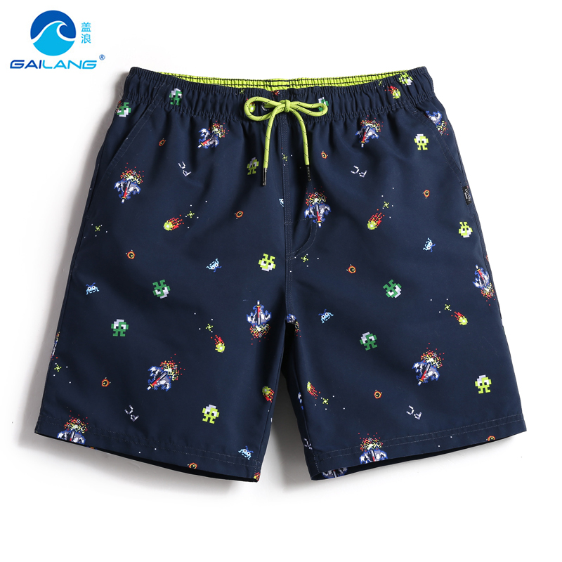 Summer board shorts mens swimming trunks lovely patterns drawstring men swimsuit joggers sweat liner double layer quick dry