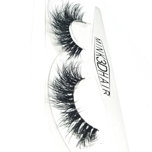 جديد HBZGTLAD ثلاثية الأبعاد المنك الشعر الرموش الصناعية Wispy الصليب رموش العين رقيق اليدوية تمديد رموش بالمنك