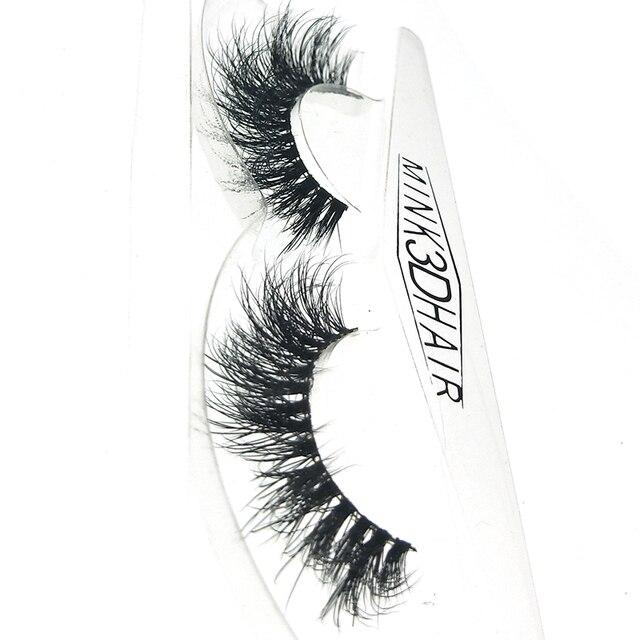 Новый hbzgtlad 3D норки волос накладные ресницы тонкими Cross ресницы пушистые ручное удлиннение норки ресницы