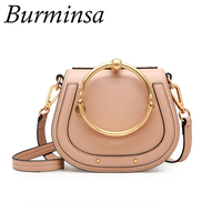 Burminsa Brand Summer Genuine Leather Bags Women S Tote Designer Handbags High Quality Shoulder Crossbody Bags