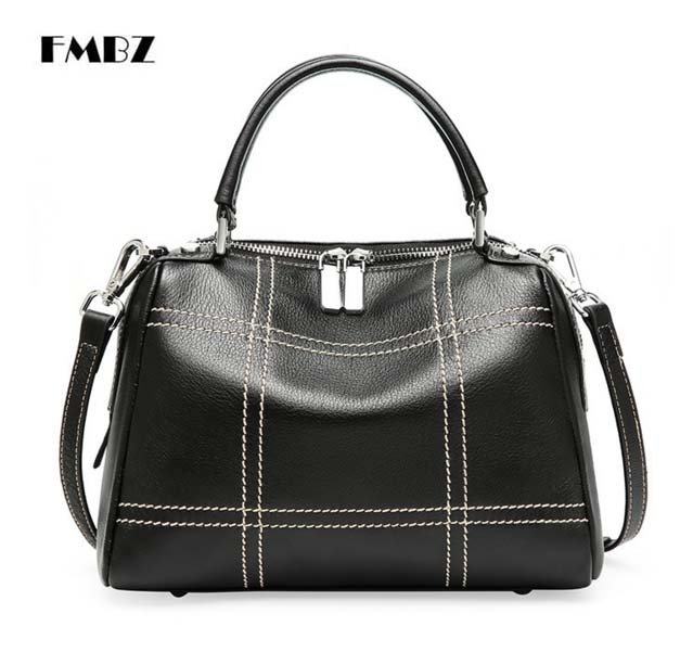 цена на The new authentic leather Woman Bag. 2018 leather large capacity Ladies Handbag. First layer cowhide woman Shoulder Bag
