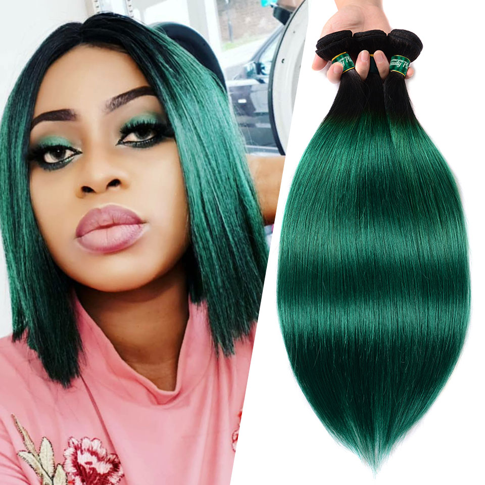 BEAUTY Green Nonremy Hair 1