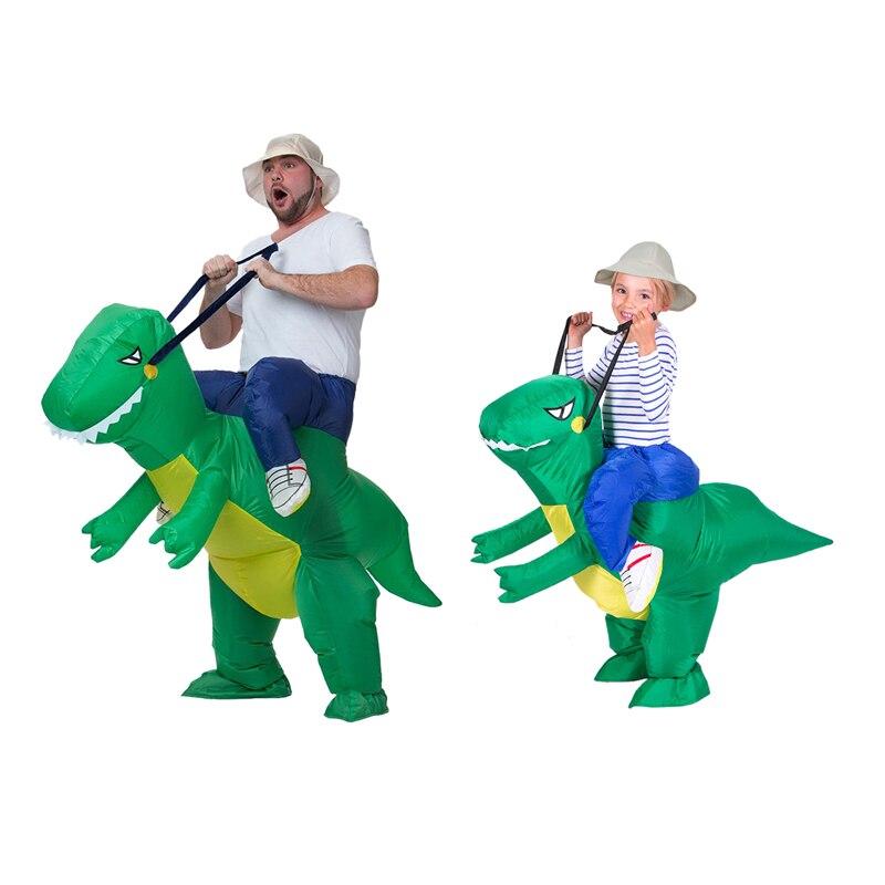 Adulte ou enfants tour gonflable sur la marche dinosaure Animal Cosplay Costume Halloween Costumes pour femmes homme enfants déguisements