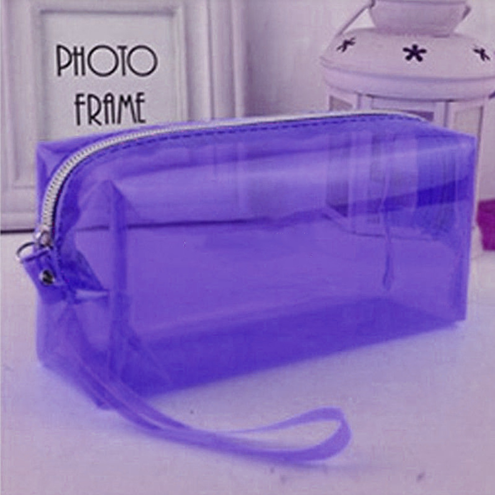 School Learning Supplies Tools Storage Box Bag Pencil Case Cosmetic Mobile Phone Storage Bag Transparent Portable Home Storage