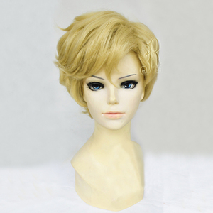 Image 4 - Sailor uranus tenoh haruka peruca cosplay, peruca curta de linho loira de cabelo sintético, resistente ao calor, fantasia + touca