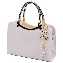 brand bag cute tote 2017 New Fashion Designer Large PU Leather Tote Shoulder Bag Handbag Ladies Messenger chain plaid  A40-375