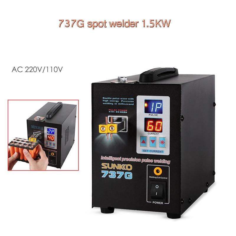 SUNKKO 737G spot welders 1 5kw precision pulse battery spot welder led light welding machine for