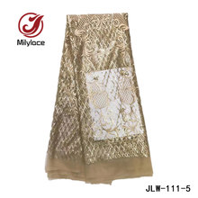 New coming african french tulle lace fabric with sequins hot selling shine laces  nigerian net lace tulle fabrics JLW-111 4bf30dc944be