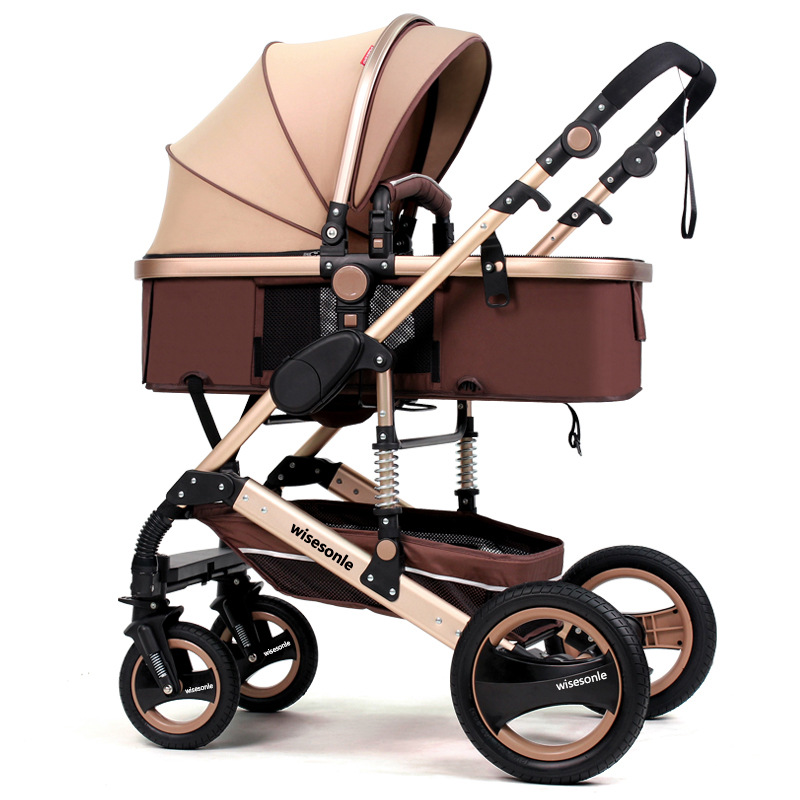 Baby Stroller 2 in 1 Folding Light Four Seasons Multifunction 3 High Landscape