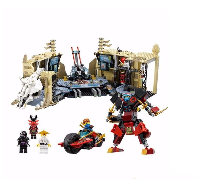 2018 new arrive 10530 1307Pcs Ninja series Chaos Warrior Cave Model Building Blocks Set Bricks Toys For Children Gift 70596 korg pa500 m50 tp 356751 touch pad touch pad