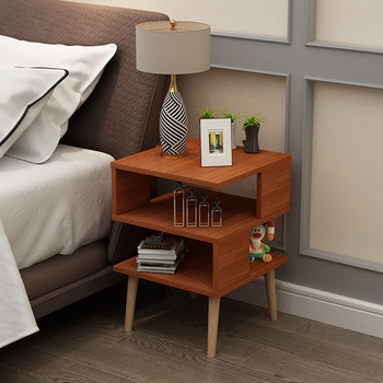 Bedside Cupboard Table Solid Wood 1