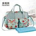 Free Shipping Hot Sale Fashion Large Capacity Baby Diaper Bag  Stylish Fresh Mommy Bag Waterproof Nylon BabyBag