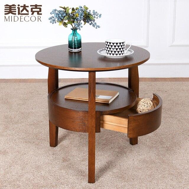 Piccolo tavolo rotondo tavolino in legno tavoli minimalista salotto ...