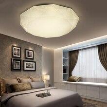Светодио дный светодиодный потолочный светильник 18 Вт 24 Вт ABS материал литье печать Пылезащитная пластина светодио дный внутренняя Светодиодная лампа для кухни, гостиной, балкона