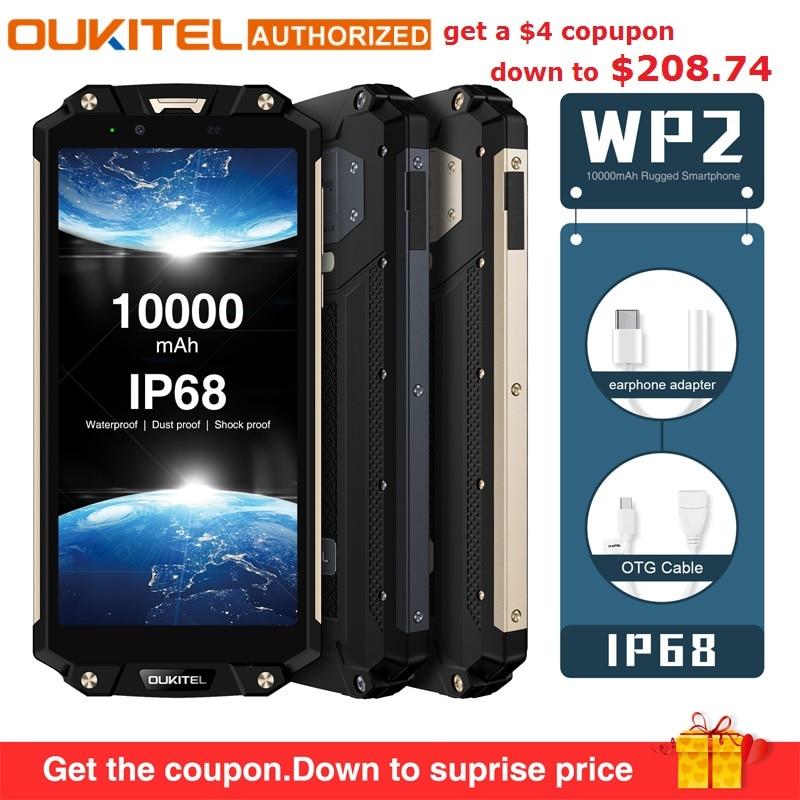 OUKITEL WP2 IP68 Wasserdicht Staub Shock Proof Handy 4G RAM 64G ROM Octa Core 6,0