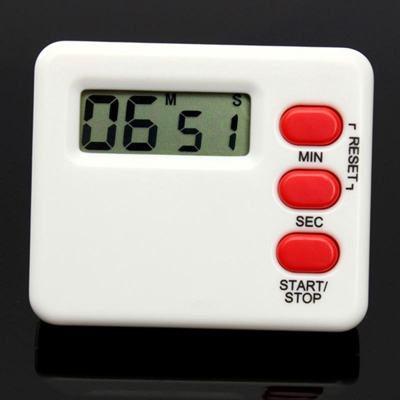Mini LCD Kitchen Timer Countdown Digital Display 99 Minutes portable 1 7 lcd digital kitchen timer green white black