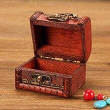 Шкатулка для украшений, винтажная деревянная коробка ручной работы с мини-металлическим замком для хранения ювелирных изделий, жемчужный дисплей, подставка, ювелирный магазин, Новинка