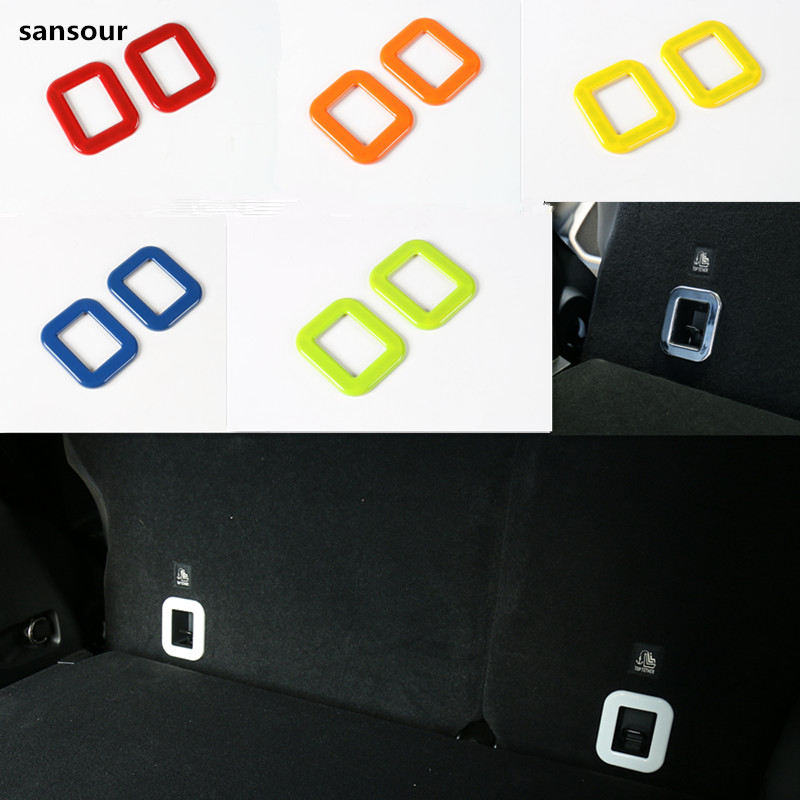 Sansour For Jeep Renegade 2015 2016 ABS Rear Tail Trunk Box Frame Cover Trim Auto Parts