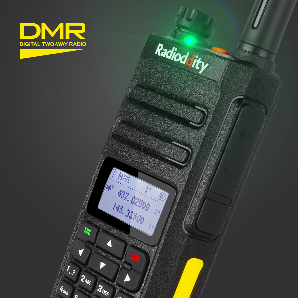 Digital Two Way Radio Radioddity GD-77 Dual Band Dual Time Slot Walkie Talkie Motrobo Tier 1 Tier 2 Transceiver DMR With Cable
