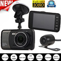 CARPRIE 4'' dual lens camera hd car dvr vehicle camera video recorder hd car dvr dash camera video cam recorder g-sensor