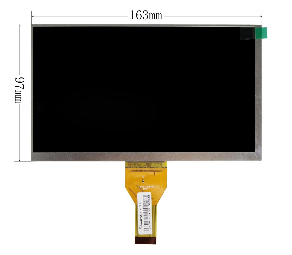 New 7 Inch Replacement LCD Display Screen For IRBIS TX47 TX21 TX37 tablet PC Free shipping