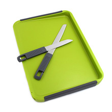 Multifunctional Household Kitchen Double-sided Double-knife Cutting Board Protection Fruit Plate Outdoor keukenhulpjes