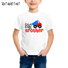 Big Brother T-shirt Family Matching Outfits Cute Kids Boys White print Tshirt Baby Summer Casual Letter Suit Tops Clothes